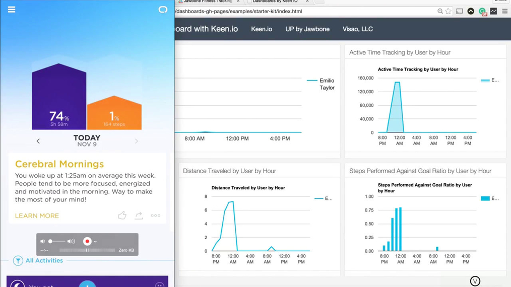 Create Your Own Fitness Tracking Dashboard for UP by Jawbone and Keen.io using PHP