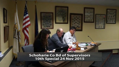 Schoharie Co Bd of Supervisors_Special 24 Nov 2015 Pt 1.MPG