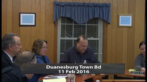 Duanesburg Town Bd -- Feb 11 2016