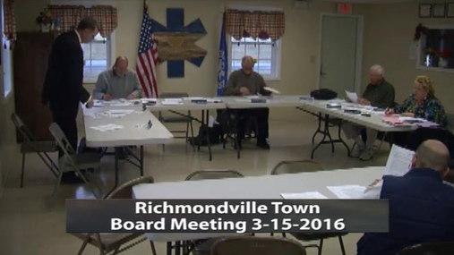 Richmondville Town Board -- Mar 15 2016