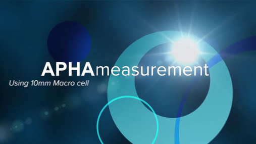 APHA measurement 10mm macro cell.mov