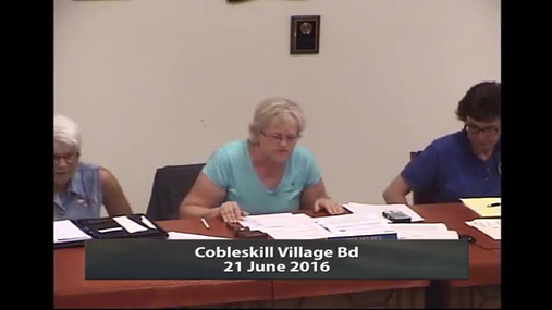 Cobleskill Village Bd--21 June 2016