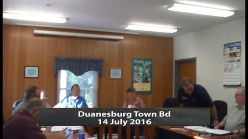 Duanesburg Town Bd --14 July 2016