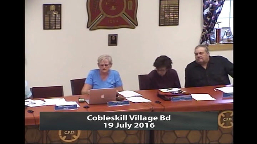 Cobleskill Village Bd -- 19 July 2016