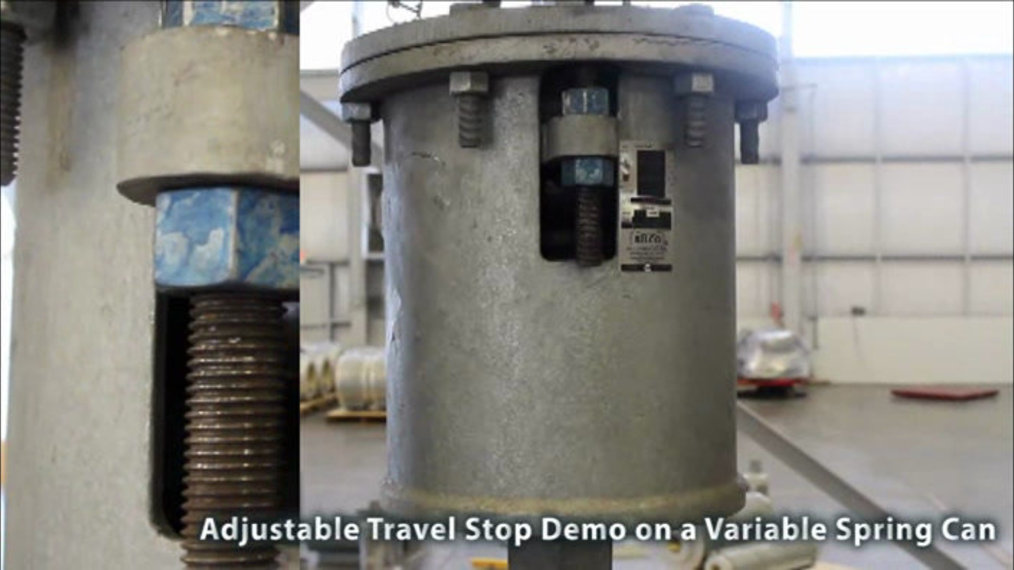 Variable Spring Adjustable Travel Stop Demo