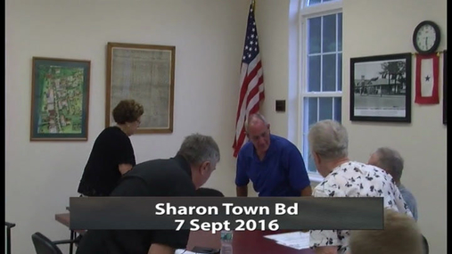 Sharon Town Bd -- 7 Sept 2016