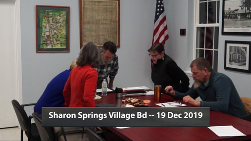 Sharon Springs Village Bd -- 19 Dec 2019