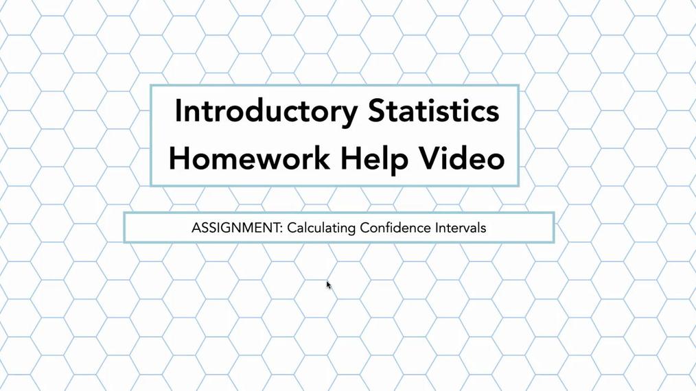 Stats Calculating Confidence Intervals HH Vid.mp4