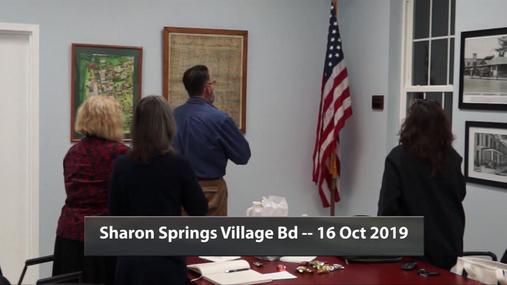 Sharon Springs Village Bd -- 16 Oct 2019