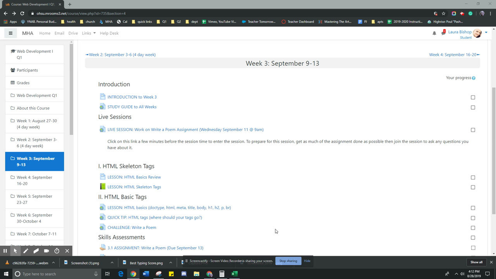 Web Development Kahn Academy Week 3