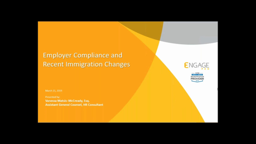 March 2019 HR Webinar - Immigration Law Update
