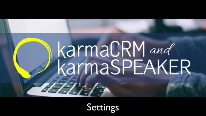 karmaCRM Settings.mp4