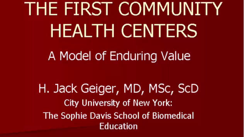 """Meet the Author - """"The First Community Health Centers: A Model of Enduring Value"""""""