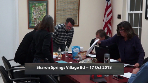 Sharon Springs Village Bd -- 17 Oct 2018