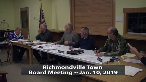 Richmondville Twn. Board -- Jan.10,2019