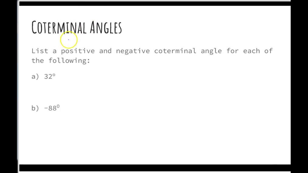 SMIII Unit 6 Test Coterminal Angles.mp4