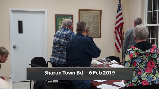 Sharon Town Bd -- 6 Feb 2019
