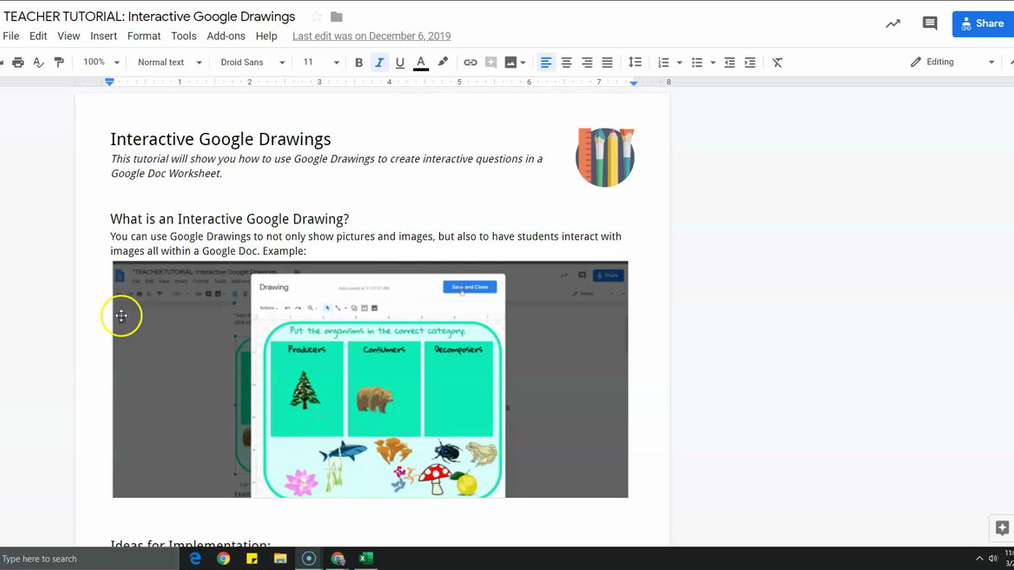 Interactive Google Drawings Overview