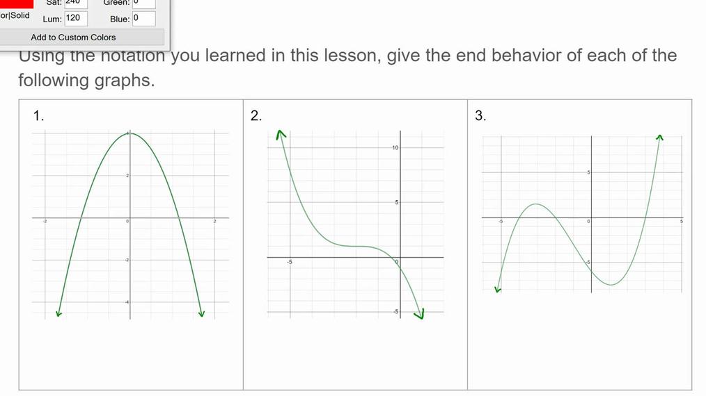 Homework Help SMIII NEW 3.6 End Behavior From Graph.mp4