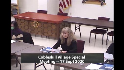Executive Order 203, Village Of Cobleskill- 9/17/20
