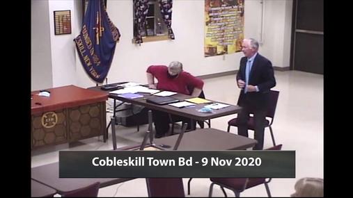 Cobleskill Town Bd - 9 Nov 2020