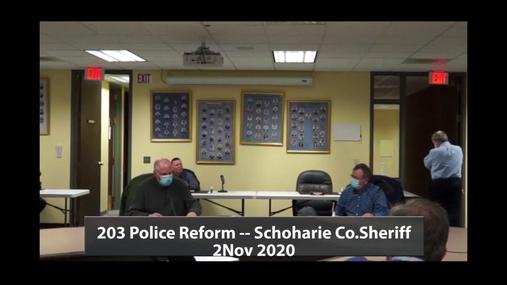 203 Police Reform -- Schoharie Co Sheriff -- 2 Nov 2020