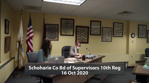 Schoharie Co Bd of Supervisors 10th Reg -- 16 Oct 2020