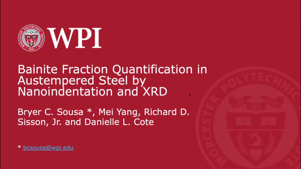 Bainite Fraction Quantification in Austempered Steel by Nanoindentation and XRD