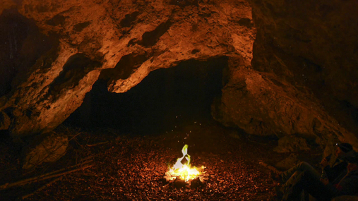 Campfire in the cave