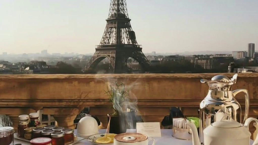 Eiffel tower from the breakfast