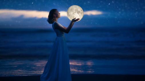 Moon, woman