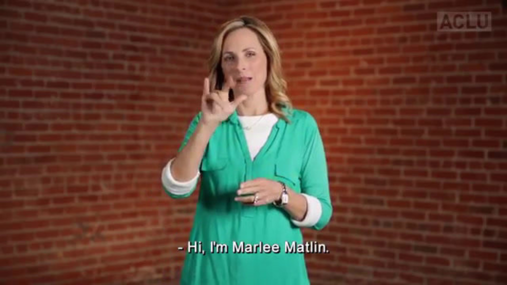 Marlee Matlin - Being Deaf and Law Enforcement.mp4
