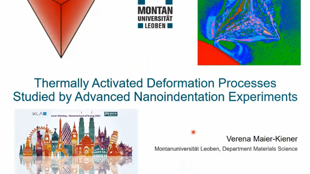 Dr. Verena Maier Kiener: Thermally Activated Deformation Processes Studied by Advanced Nanoindentation Experiments
