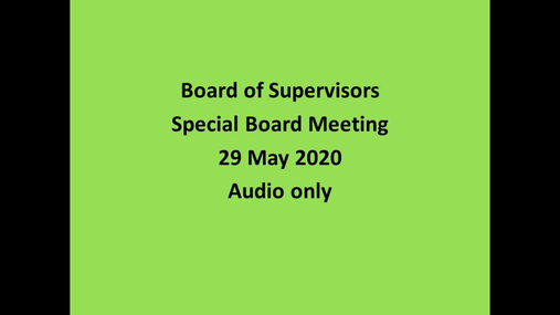 Schoharie Co Bd of Supervisors --Special -- 20 May 2020