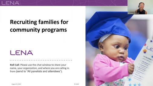 Webinar: Recruiting families for community programs