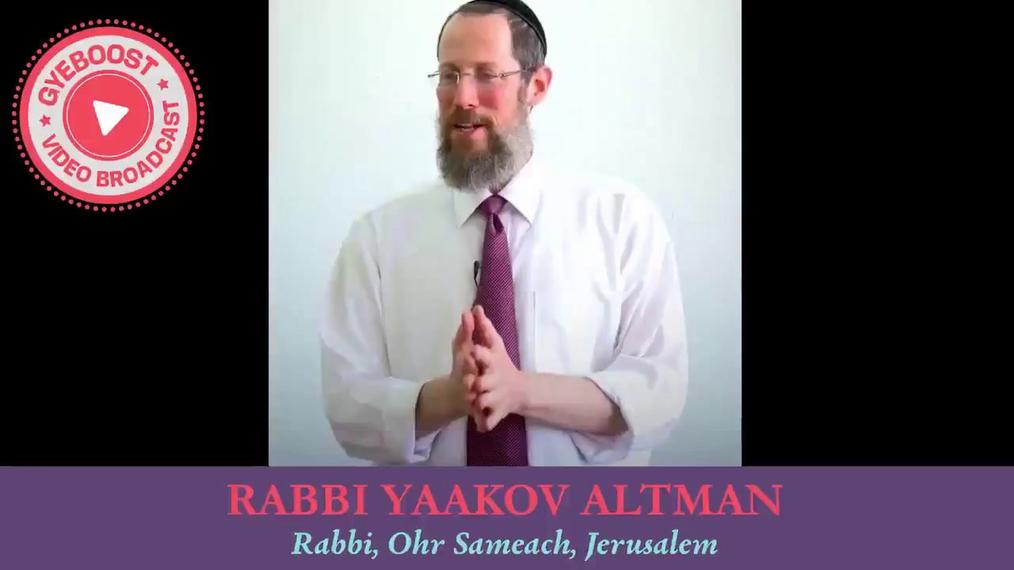 688 - Rabbi Yaacov Altman - Como crear un Eitz Ratzon