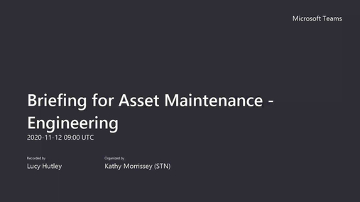 Briefing for Asset Maintenance - Engineering .mp4