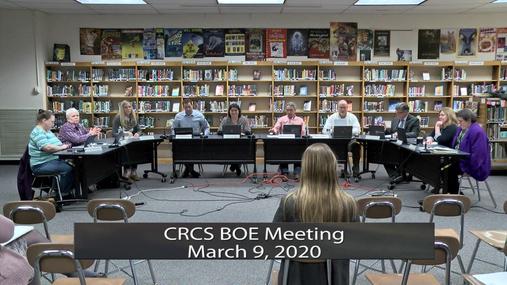 CRCS BOE -- March 9, 2020