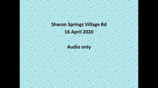 Sharon Springs Village Bd -- 16 Apr 2020