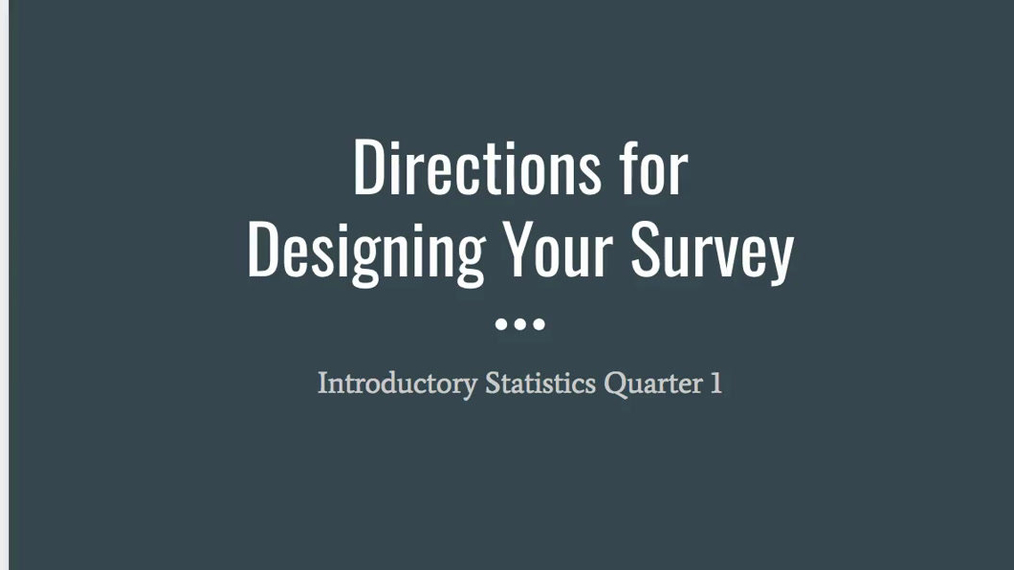 NEW Step 1 - Designing Your Survey.mp4