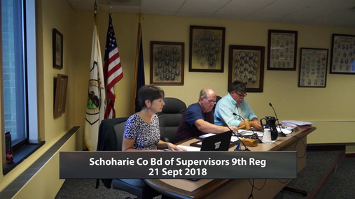 Schoharie Bd of Supervisors 9 Reg-- 21 Sept 2018