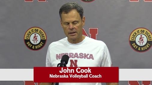 Nebraska Volleyball - Coach John Cook at Monday Press Conference