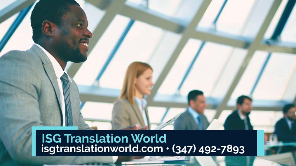 Translation in Brooklyn NY, ISG Translation World