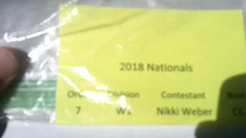 Nikki Weber W1 Round 1 Pass 2
