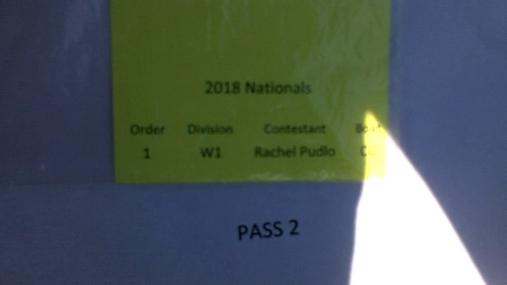 Rachel Pudlo W1 Round 1 Pass 2