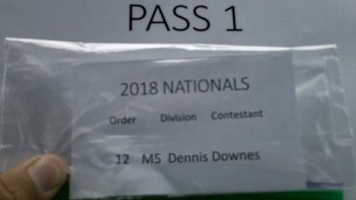 Dennis Downes M5 Round 1 Pass 1