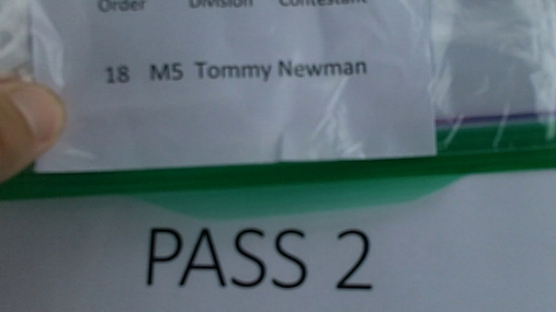 Tommy Newman M5 Round 1 Pass 2