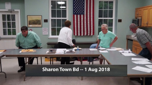Sharon Town Bd -- 1 Aug 2018