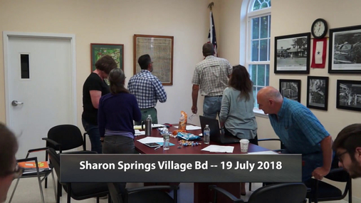 Sharon Springs Village Bd -- 19 July 2018.