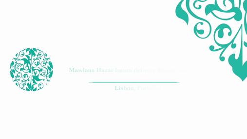 Mawlana Hazar Imam's Speech to Parliament in Lisbon, Portugal 10 July 2018